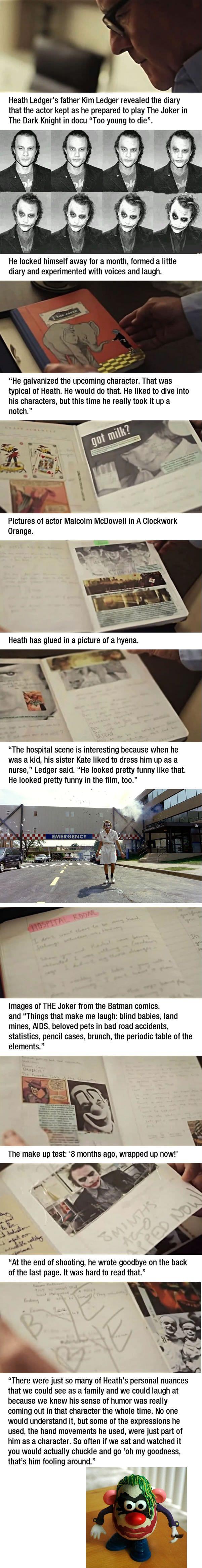 Heath Ledger's joker diary - 9GAG