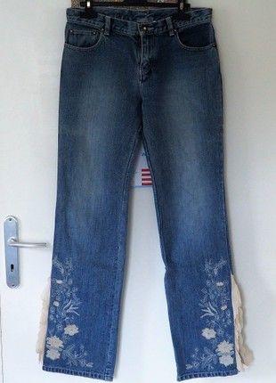 À vendre sur #vintedfrance ! http://www.vinted.fr/mode-femmes/jeans-evases/50549812-jeans-fanntaisie