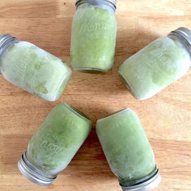 Freeze a week's worth of smoothies, thaw in fridge the night before you want to drink it