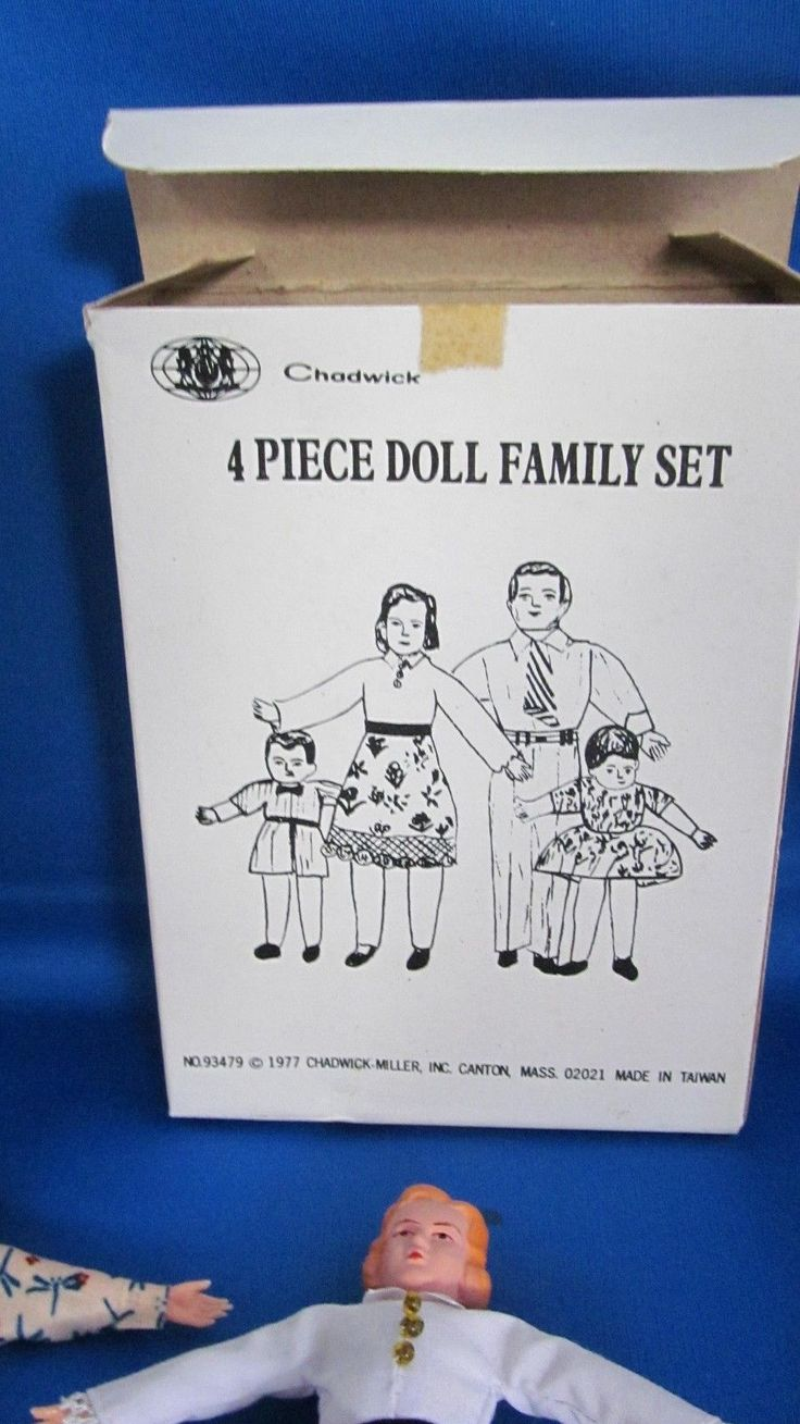 Vintage Dollhouse Miniature Poseable Family Dolls Chadwick-Miller 1977 + 1 | eBay