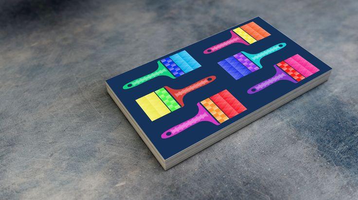 #businesscard #design #paintbrush #geometric #painting&decorating