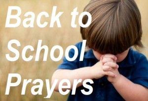 Time for some back to school prayers for a great school year ahead! If you believe in God be sure to re-pin!