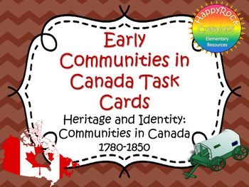 Looking for a great way to review or assess the grade 3 Ontario social studies unit Heritage and Identity: Communities in Canada 1780-1850?  Check out these task cards!  These 20 task cards cover a range of curriculum expectations and content information (challenges of early settlers/First Nations, daily life, development of early communities and interactions between First Nations and early settlers).