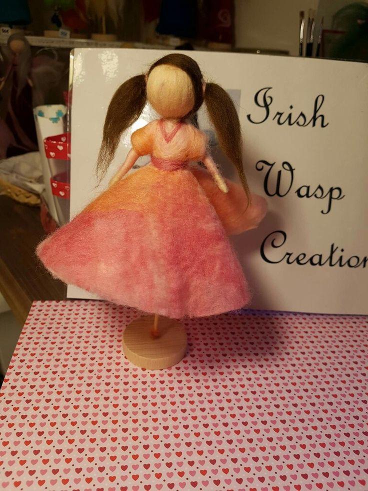 Hand-felted Rock 'n Roll doll. For more visit IrishWaspCreations on Facebook.