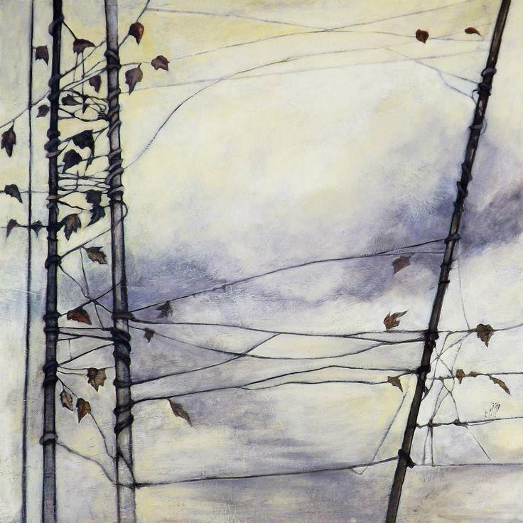 """""""Borderline"""" Oil on wood - 100x100 cm"""