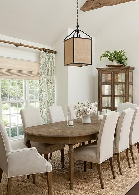 Well appointed cottage dining room