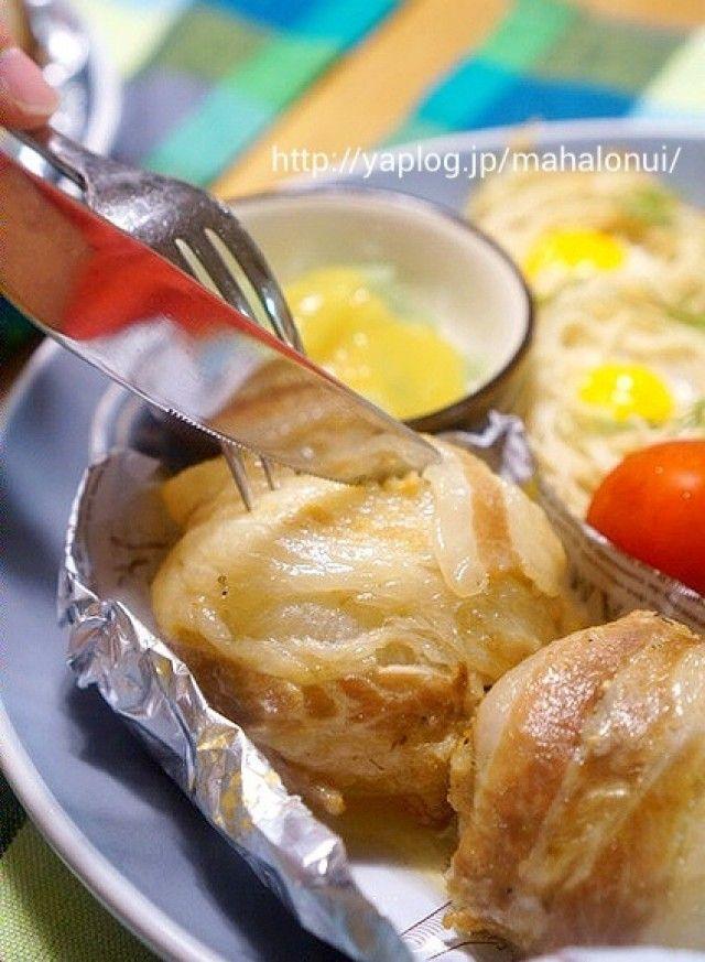 炊飯器でトロトロ♪味付けは塩だけ☆ゴロッと丸ごと♪肉巻き玉ねぎ!!|[暮らしニスタ] 暮らしのアイデアがいっぱい♪