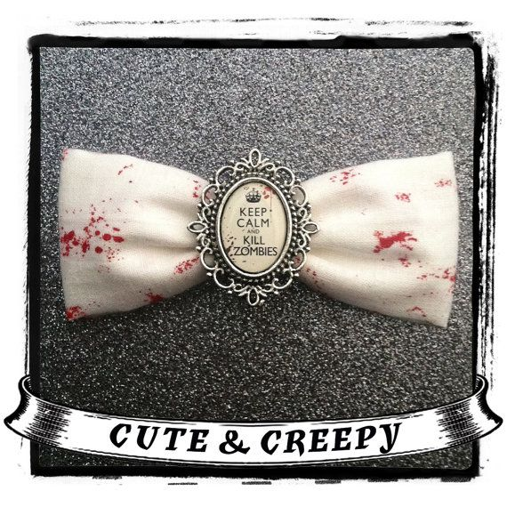 Hey, I found this really awesome Etsy listing at https://www.etsy.com/listing/157388163/keep-calm-and-kill-zombies-hair-clip
