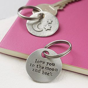 'Moon And Back' Keyring - stocking fillers under £15