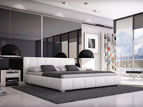 Sam Designer Polsterbett Luna In Weiß Mit Gepolstertem