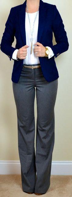brown slacks white blazer women - Google Search