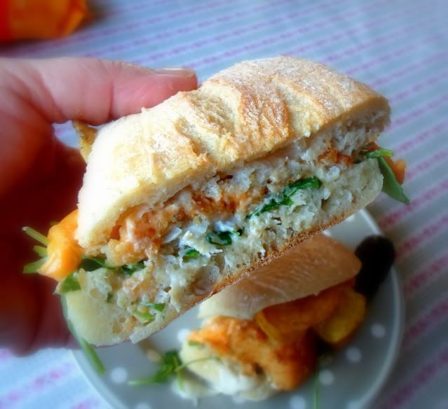 a Filet O Fish . . . but call it what you like . . . it's a fish finger sandwich, except it has  a square fish finger inside!