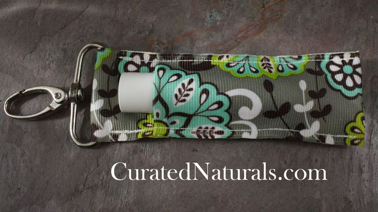 Chap Stick keychain holder - Hand Made in the U.S.A. - Carry your chapstick with you - Holder securely holds standard chap stick tubes - very high quality clip will hold wherever you attach it - Fun v