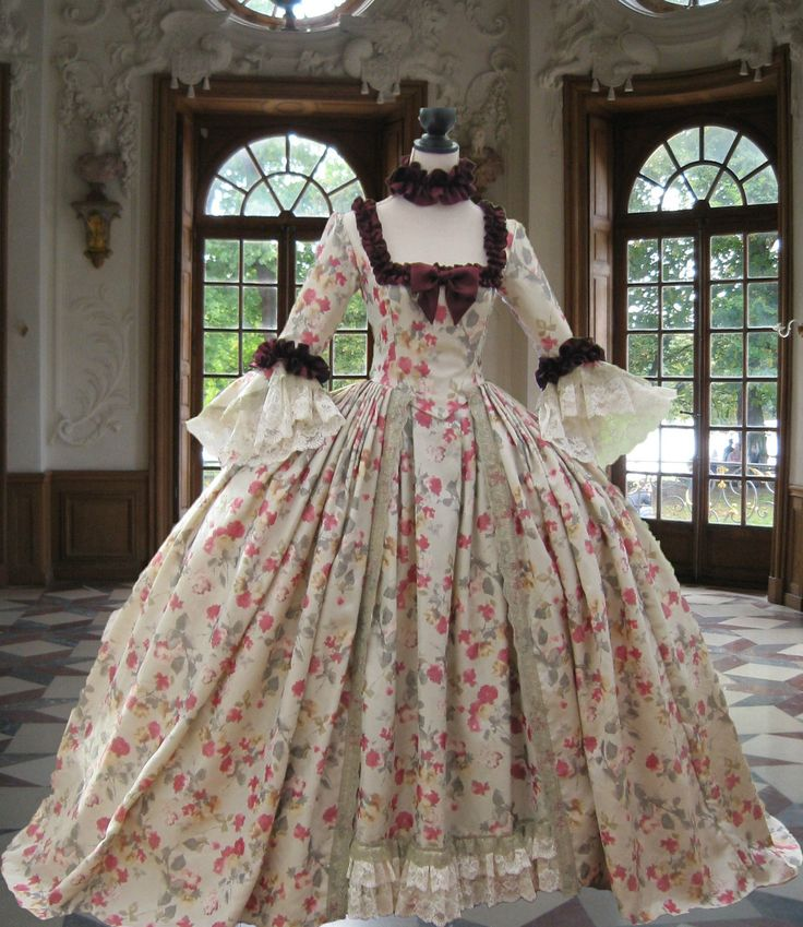 Georgian 18thC Rococo Colonial Marie Antoinette Day Gown Made to Measure | eBay