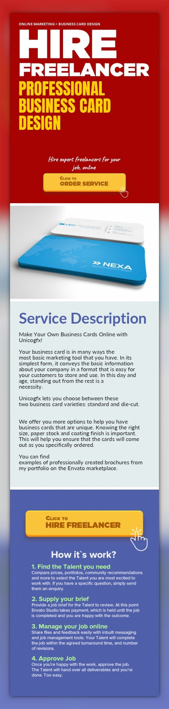 Professional Business Card Design Online Marketing, Business Card Design   Make Your Own Business Cards Online with Unicogfx!    Your business card is in many ways the most basic marketing tool that you have. In its simplest form, it conveys the basic information about your company in a format that is easy for your customers to store and use. In this day and age, standing out from the rest is a ne...