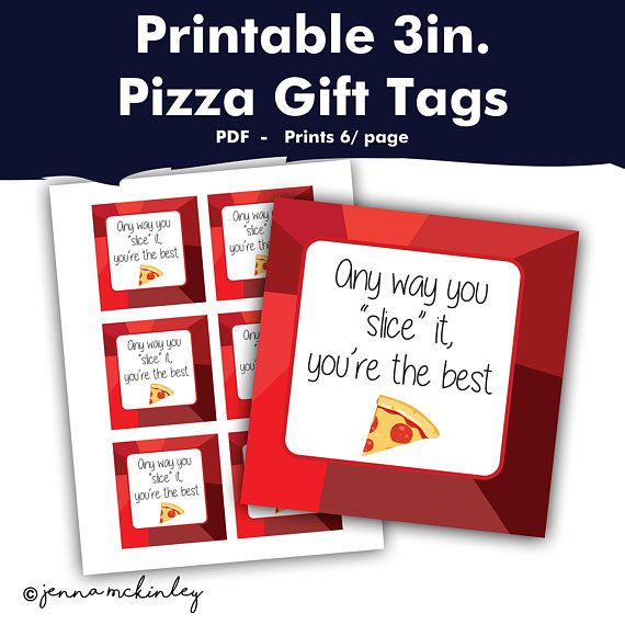 digital, anyway you slice it Pizza gift tag Pizza label you are awesome pizza party printable pizza bridal shower Thank You