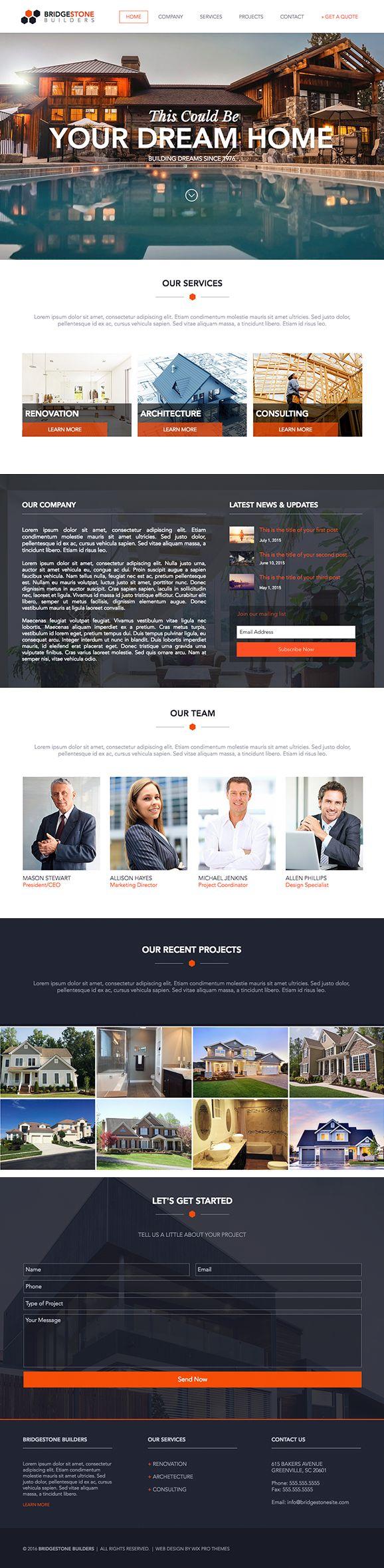 Builder Website Design Theme