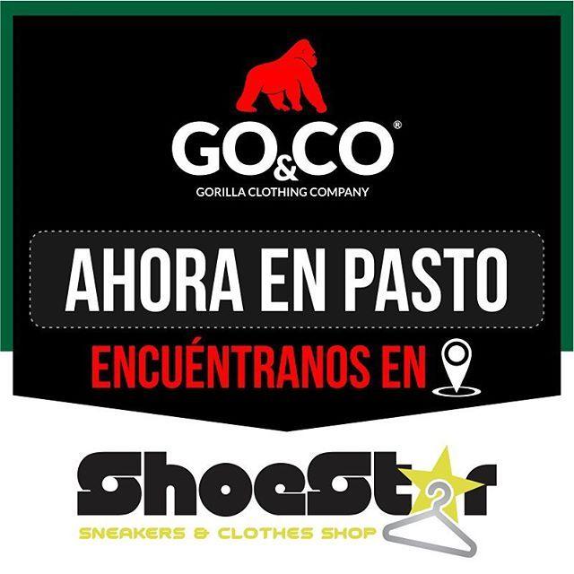 Nuestra marca sigue creciendo y ahora la podrás encontrar en Pasto. Encuentra #LaMarcaDelGorilla en el almacén ShoeStar ubicado en el centro comercial la 17. Whatsapp 3005338082 ☎️ 7295819 be #GoCo