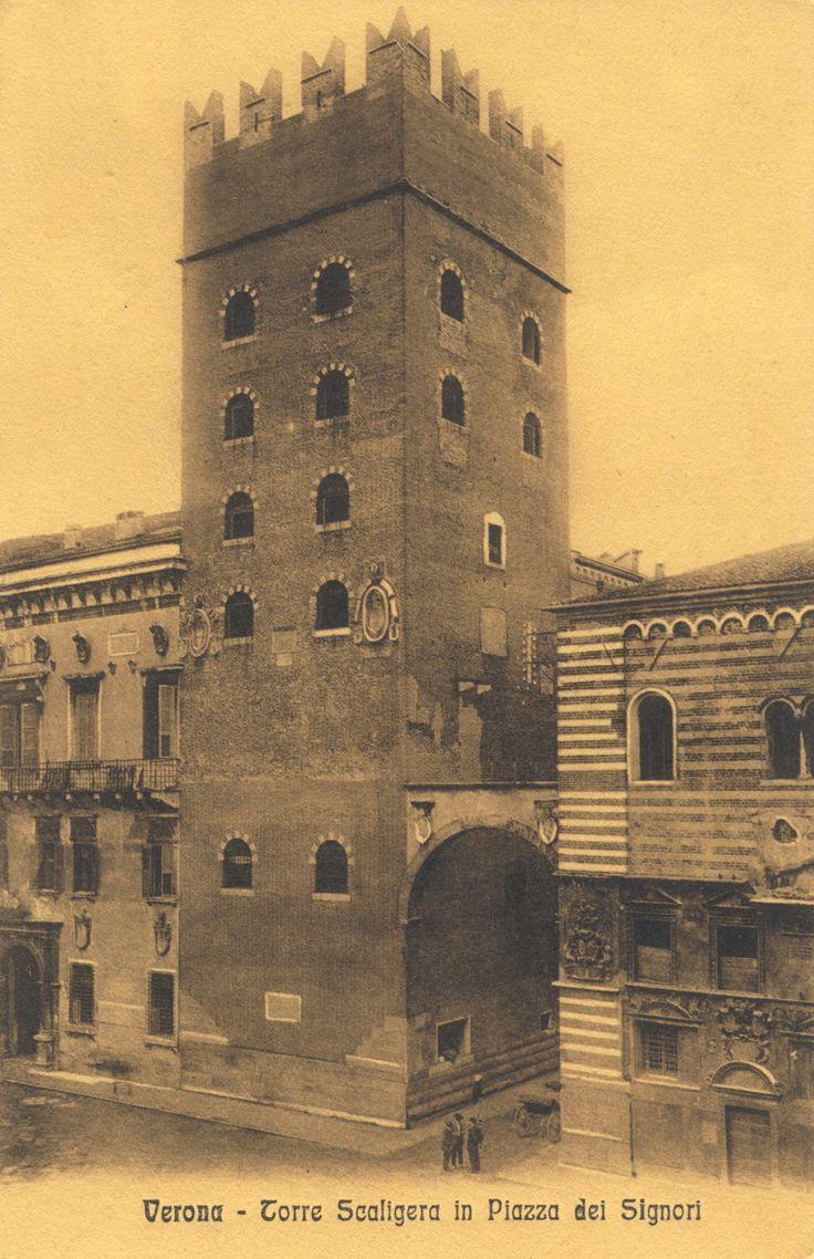 Verona - Torre Scaligera in Piazza dei Signori