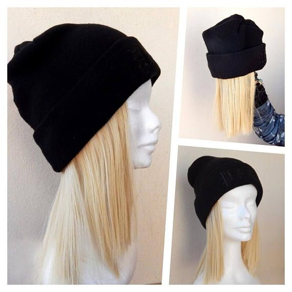 Cappello con capelli lunghi  extensions cappello aggiunta