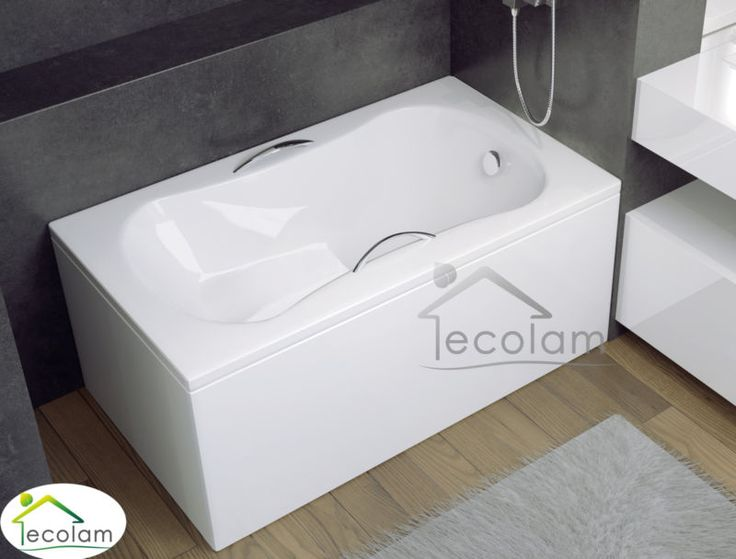 Badewanne Wanne Rechteck Wanne Sitzbadewanne mit Sitz 120 x 70 cm Schürze Acryl