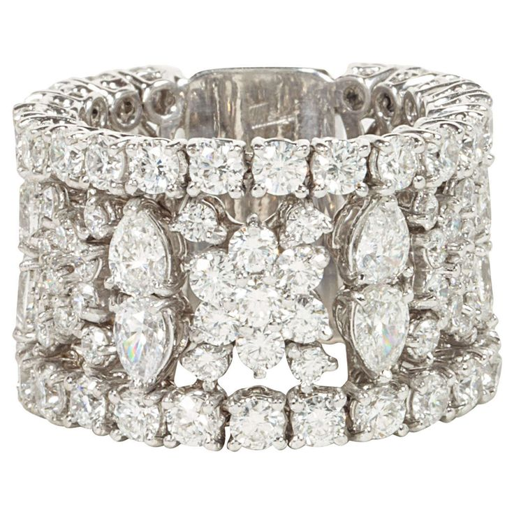 How beautifully exquisite... Multi-shape Wide Diamond Band ....  oooooh yes please !!!!