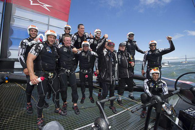 Emirates Team New Zealand won Louis Vuitton Cup 2013