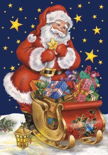 christmasillustr.quenalbertini: Santa and gifts