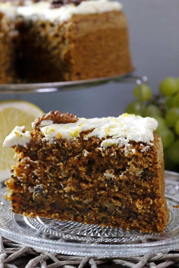 This carrot cake is one of the favorites of mine and my whole family. It is fluffy and delicious. Lemon zest in cream topping gives it a tangy flavor.