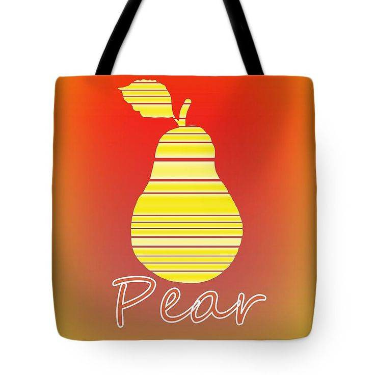 Pear Art On A Tote Bag