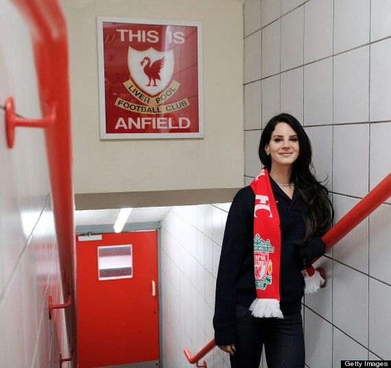 "Singer Star U.S.A ""Lana Del Rey"" on famous tunnel this is anfield."