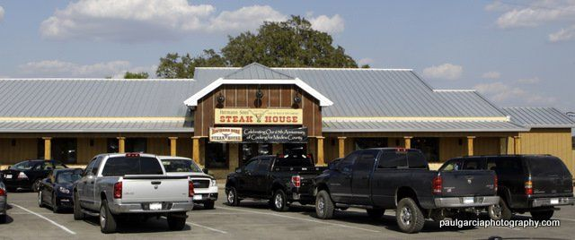 Hermann Sons Steakhosue (Restaurant), Hondo, TX (Fort Worth Hole in the Wall Blog); great steak place; big CFS