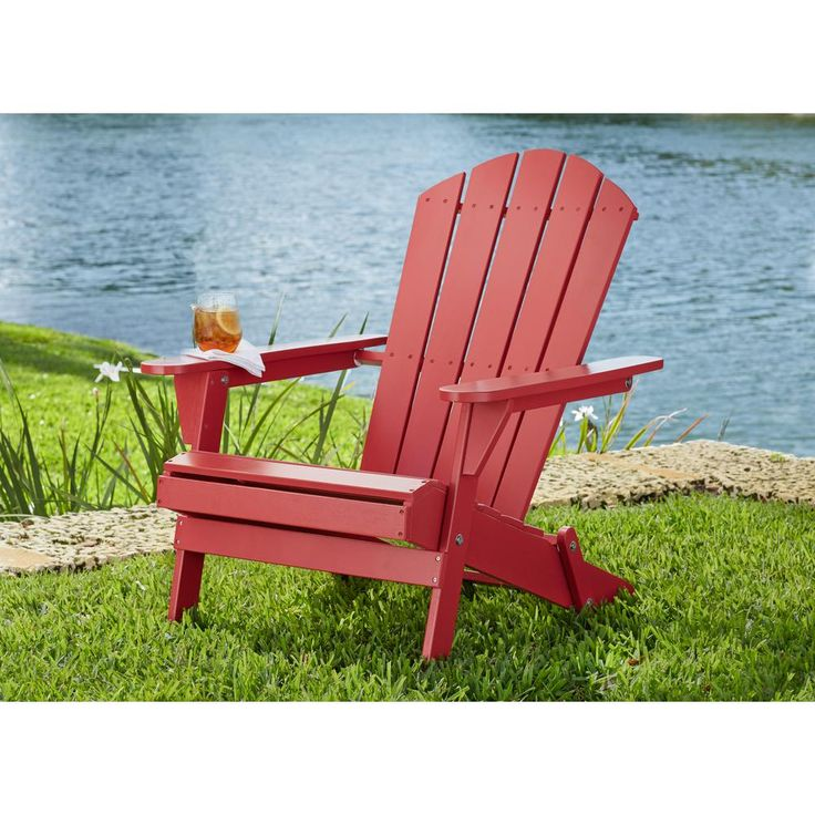 Hampton bay mist folding outdoor adirondack chair 2pack