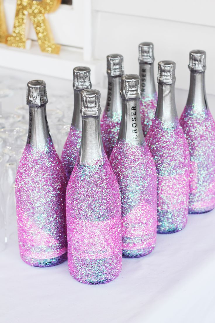 DIY Glitter Champagne  Styling :: Fiona Malcomson Photography :: The Fee Tales