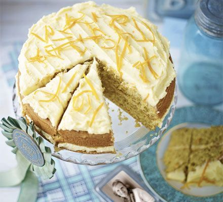 Mary Berry's Orange layer cake. The queen of baking, Mary Berry, creates a light and fruity citrus sponge with buttery frosting and a sugar glaze