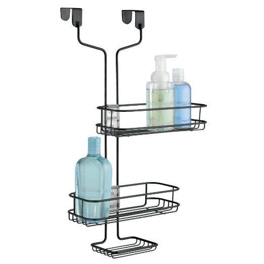 Bagno doccia-Caddy mDesign regolabile da appendere alla porta per Shampoo, condizionatore, Sapone - Nero opaco EURO 22,99