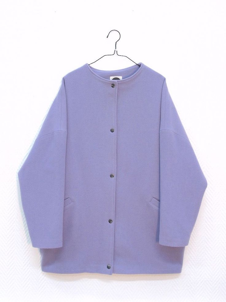 Mori Lilac Cashmere Jacket via MORI COLLECTIVE.