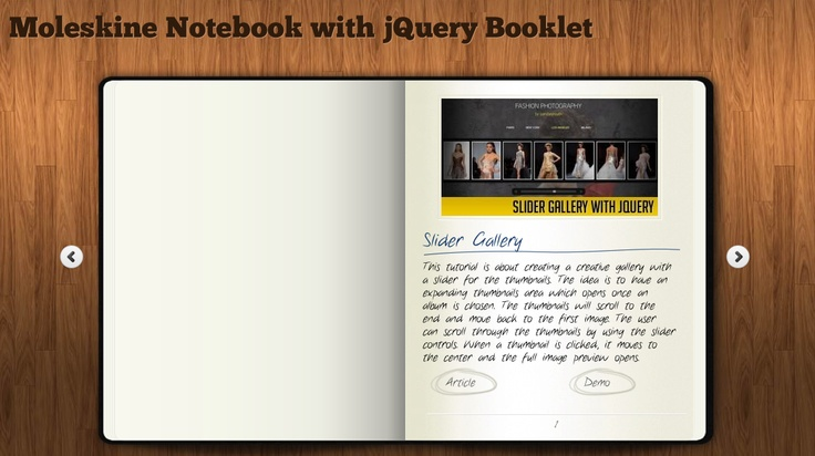 Moleskin Notebook with jQuery
