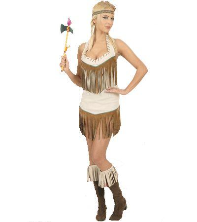 Sexy indiaan kostuum voor dames. Dit leuke indianen kostuum voor dames bestaat uit een jurkje en hoofdband. Carnavalskleding 2015 #carnaval