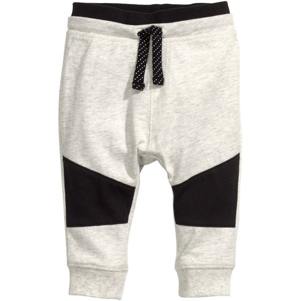 Jersey trousers R 129 ($9.95) ❤ liked on Polyvore featuring baby, kids, white jersey and cotton jersey