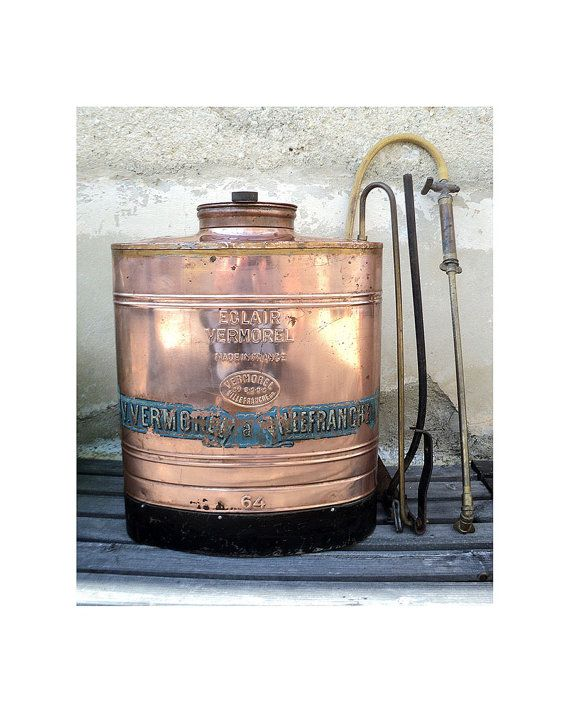 Antique Copper Backpack Sprayer Eclair by LaBelleEpoqueDeco