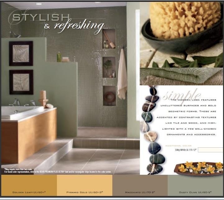 Behr Paint Modern Oasis Master Bath Design Pinterest