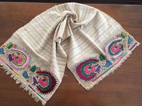 Antique Ottoman-Turkish Silk & Gold Metallic Hand Embroidery On Linen N5 • $290.00 - PicClick