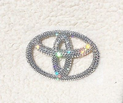 Crystal Toyota Emblem Bling Badge With Swarovski Crystals Tacoma, Highander Car