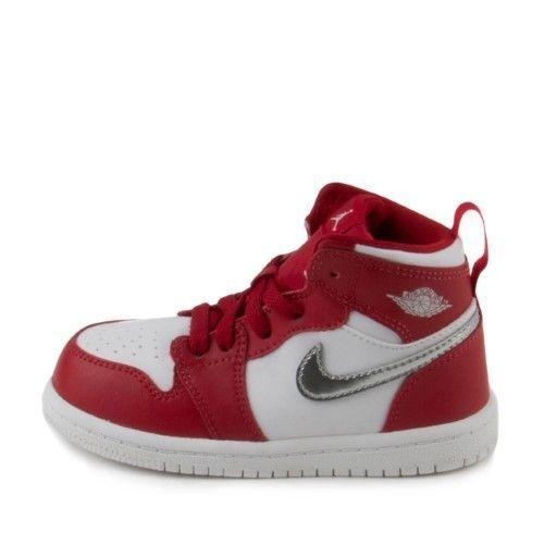 Nike Baby Boys Jordan 1 Retro High BT Gym Red/Metallic Silver 705304-602 Size 8c #Nike #Athletic