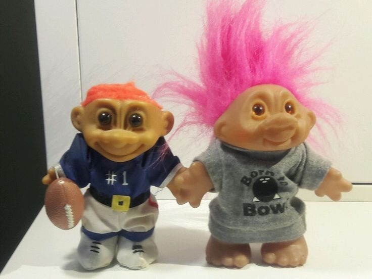 Trolls are in good condition with an exception of the football troll which is missing the hair<br/><br/>The elastic that holds the football to the trolls hand is very stretched out and should probably be replaced. The football is the original football that came with the troll.There is a little dust on the faces due to being in a storage locker for more than 15 years. | eBay!