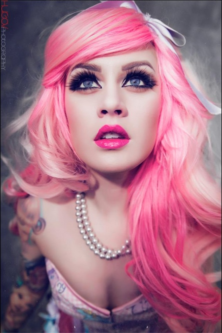 Pastel pink hair. Kelly Eden