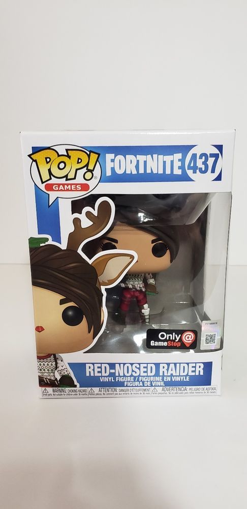 Funko Pop Fortnite Red Nosed Raider Gamestop Exclusive Free