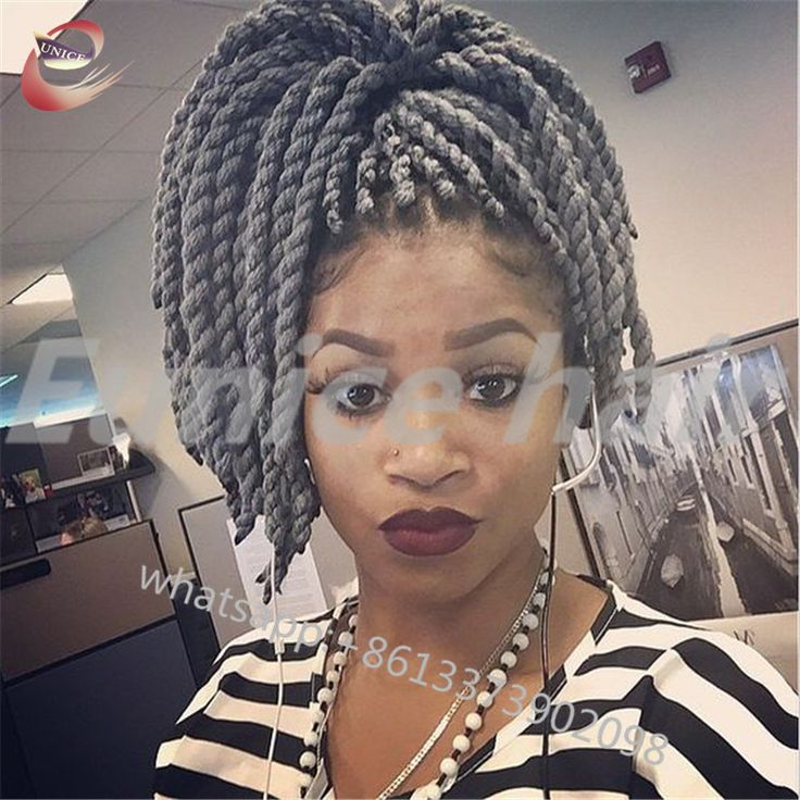 African Twist Crochet Braided Hairstyles Full-Size Extension,Havana Mambo Twist Individual Braids Hair Products Free Shipping