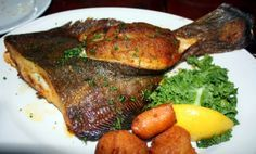 Crabmeat-Stuffed Whole Bay Flounder from  Capt. Anderson's